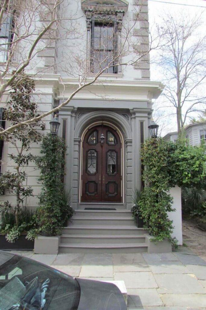 Front Door of Home in Charleston, SC