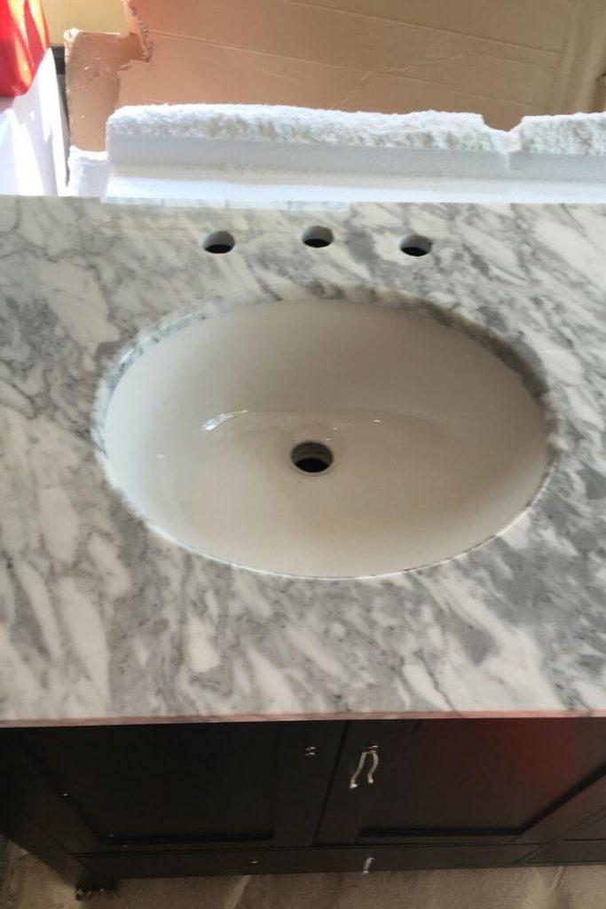 Italian carrara marble bathroom vanity top