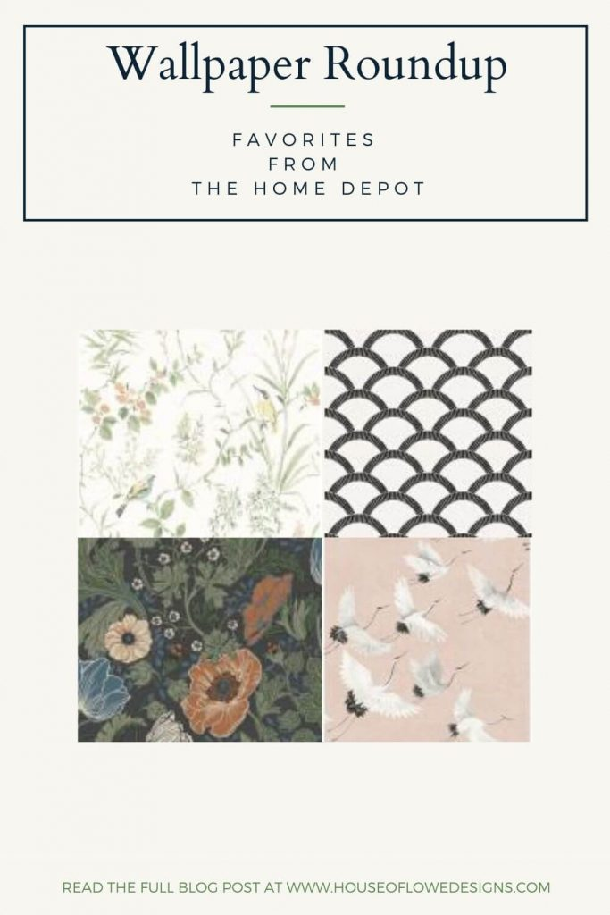 Today on the blog, I'm sharing a roundup of my favorite wallpapers I found over at The Home Depot. Read the full post at www.houseoflowedesigns.com.