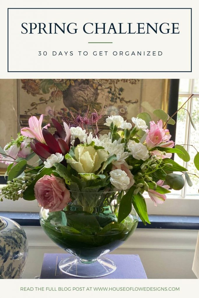 Over at houseoflowedesigns.com I'm sharing my 30 Day Spring Organization Challenge to help you whip your house into shape!