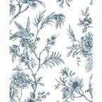 56.4 sq. ft. Jessamine Blue Floral Trail Wallpaper