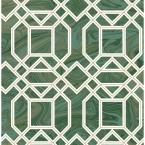 56.4 sq. ft. Daphne Green Trellis Wallpaper