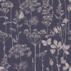 Meadow Floral Indigo Non-Woven Wallpaper