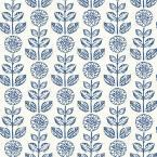 Dolly Navy Folk Floral Wallpaper 56.4 sq. ft.