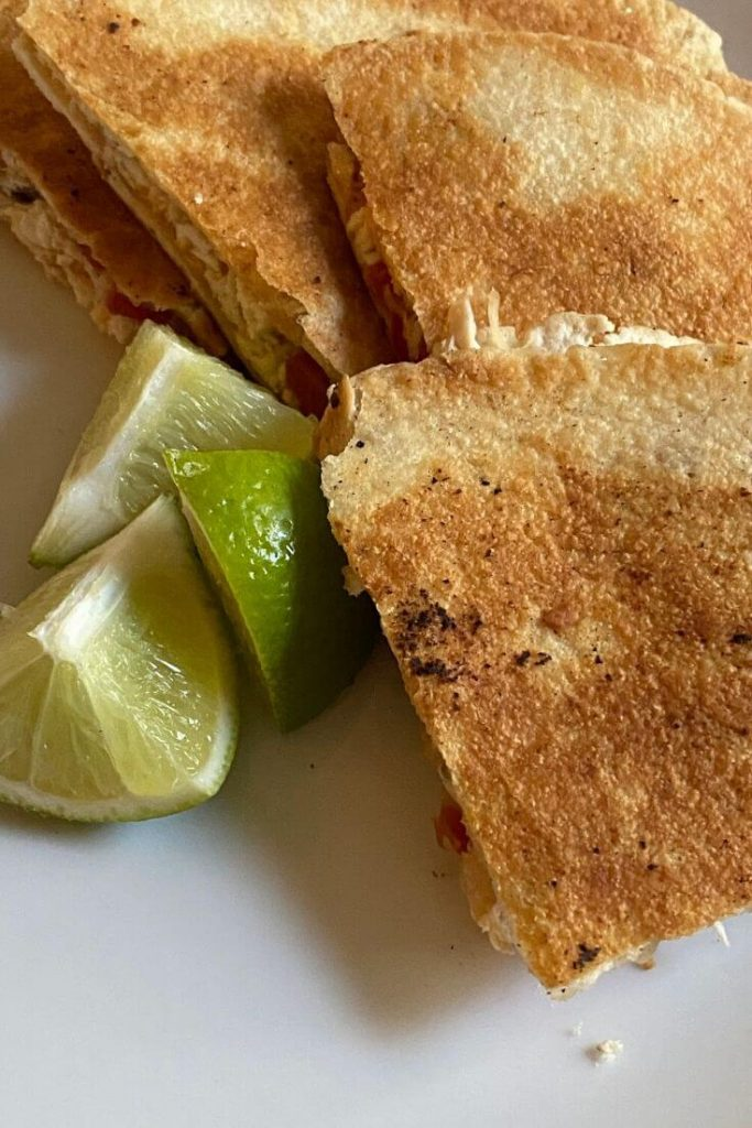 Chicken quesadillas are one of our go-to favorite recipes to make while staying home during quarantine