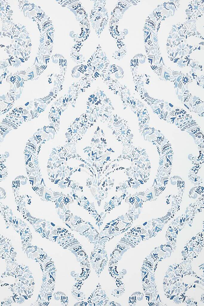 Featherton Floral Damask Wallpaper from Anthropologie
