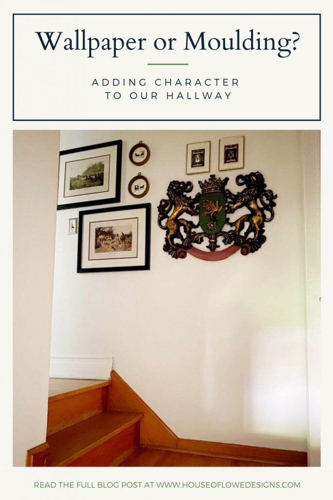 Adding wallpaper or moulding to your hallway can add character and interest to the space. I'm debating between the two on the blog today. Read full post at www.houseoflowedesigns.com
