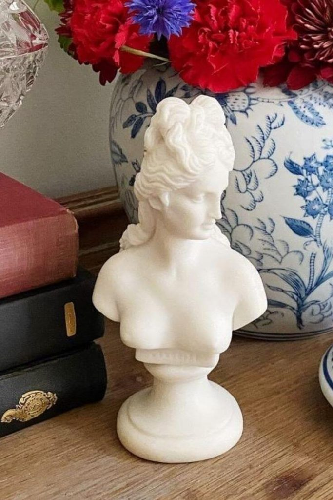 Small white female bust