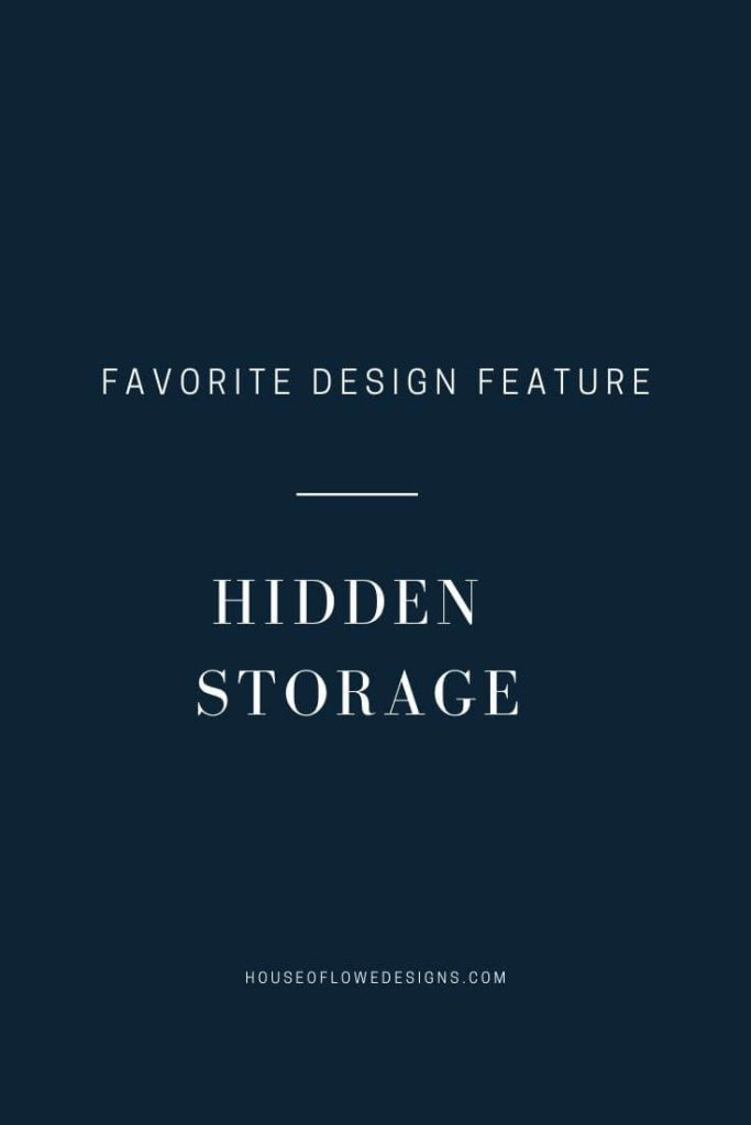 Talking about a favorite design feature of mine, hidden storage. Sharing pins that are inspiring design ideas for concealing storage in our linen closet.