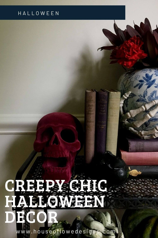 Creepy Chic Halloween Decor Display