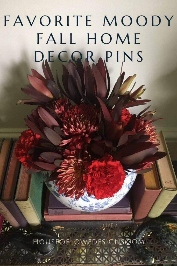 Today, I'm sharing the moody fall decor inspiration pins from Pinterest that have caught my eye and are inspiring my design for this year.