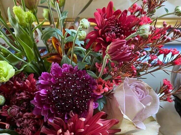 Close up of a beautiful bouquet of flowers