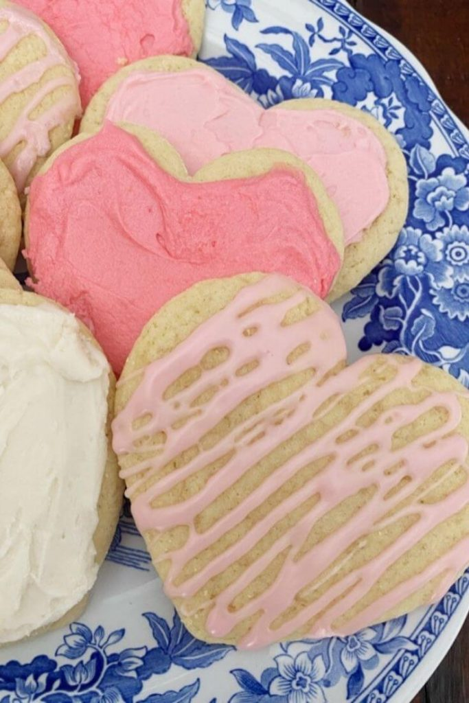 The best heart shaped sugar cookies decorated for Valentine's Day