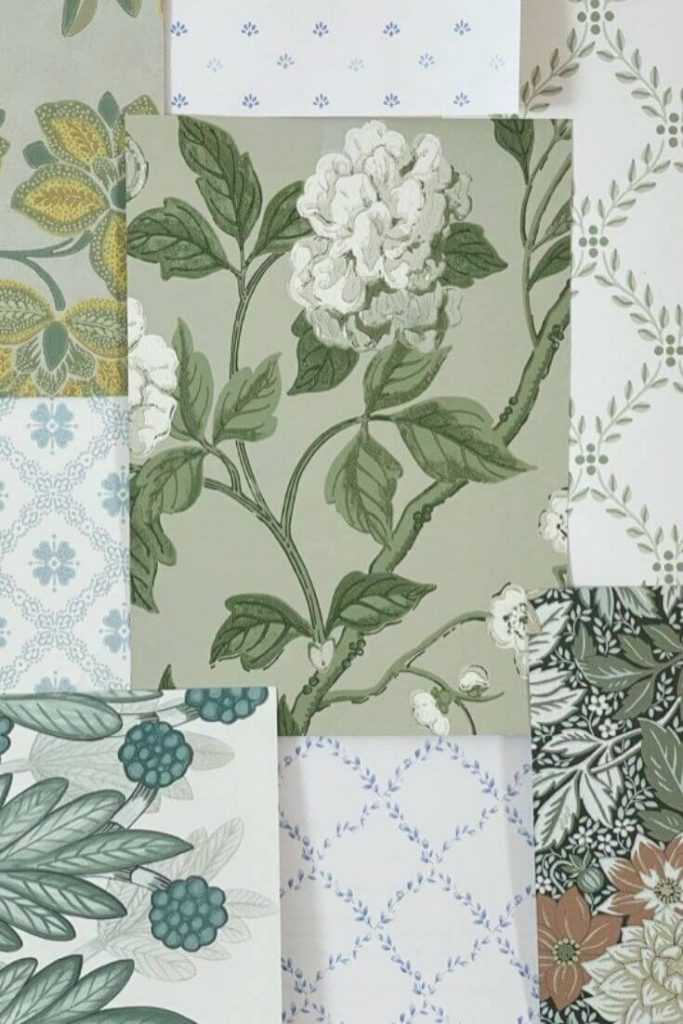 To pick the right wallpaper for your home start with a mix of wallpaper samples for review