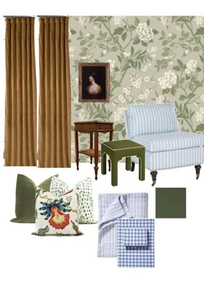 Guest Bedroom Design Mood Board