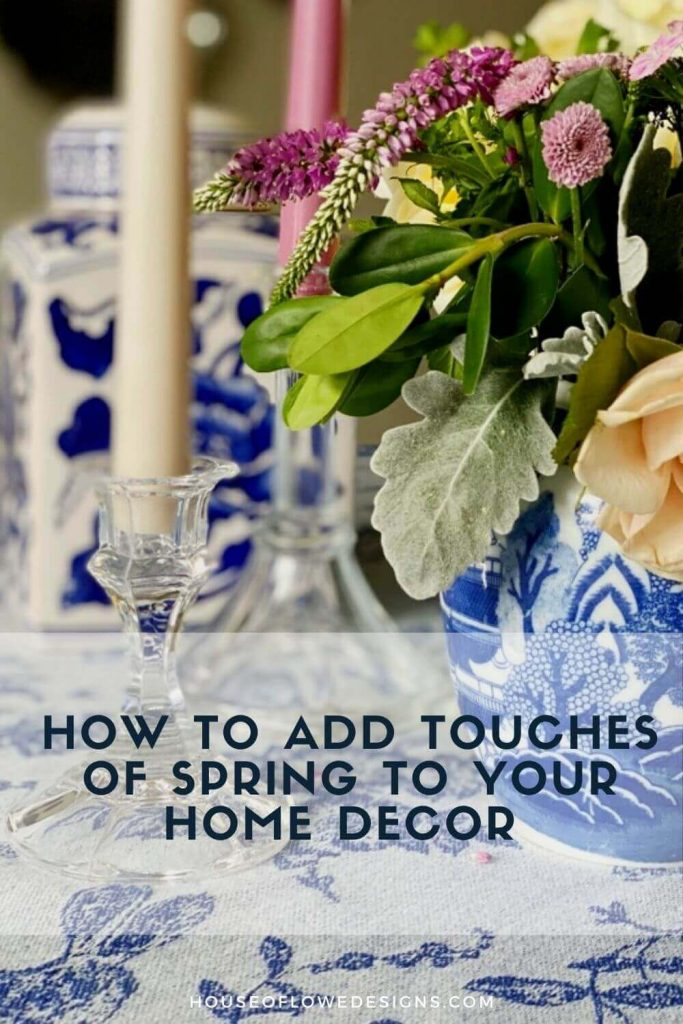 The weather is warming up and spring is finally here. Today on the blog I'm sharing ways to bring touches of spring to your home decor.