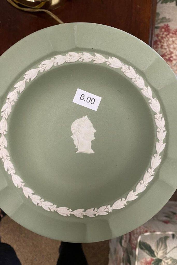 Green Jasperware Plate
