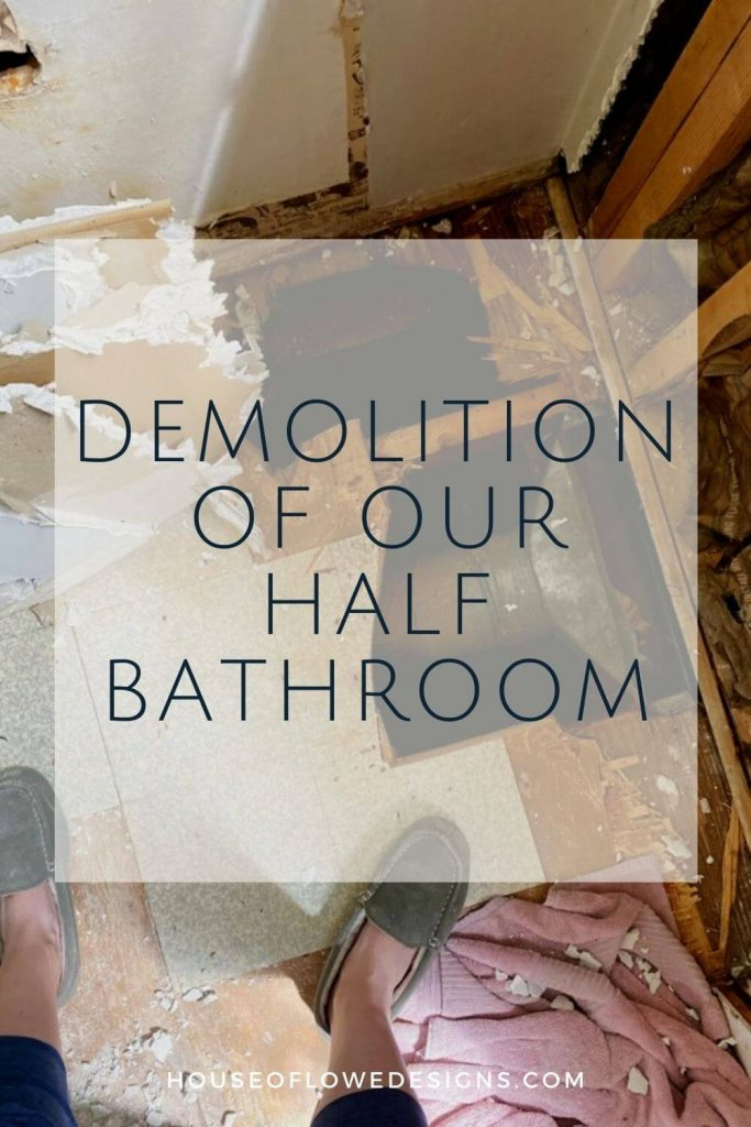 It's week 2 of the One Room Challenge, and today on the blog I'm sharing the demo of our half bath reno and the progress we've made so far.