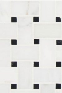 Basketweave White and Black Tile