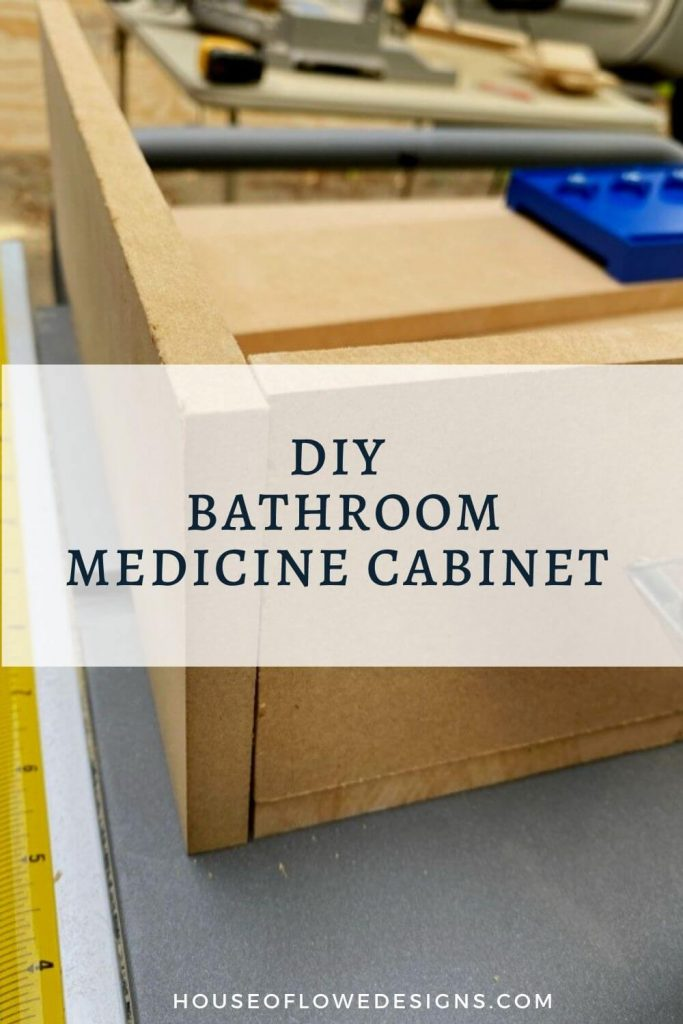 It's week 5 of the One Room Challenge and today on the blog I'm sharing how to DIY a custom medicine cabinet for a bathroom.