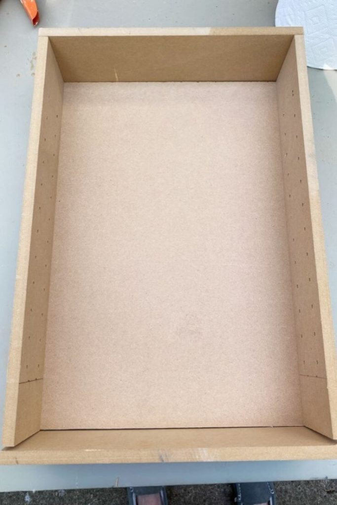 MDF box with frame for medicine cabinet